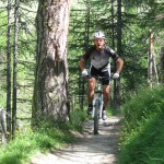 einer von vielen Trails, unterwegs mit Erich